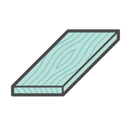 Wood floor construction material vector icon design on white. Illustration