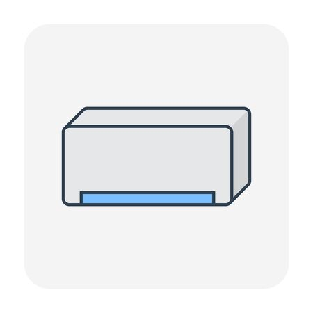 Air conditioner icon, editable stroke.