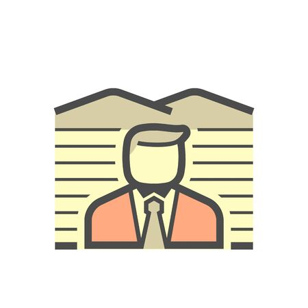 Real estate business agent and land investment vector icon design. Ilustracja