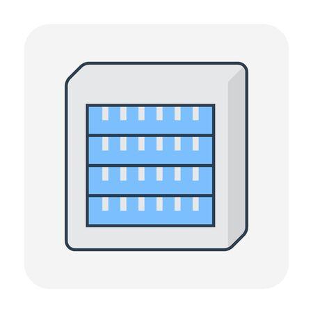 Air condensor icon, editable stroke.