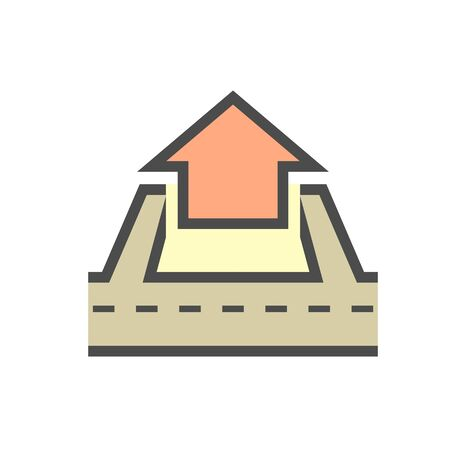 Real estate business and land investment vector icon design. Ilustracja