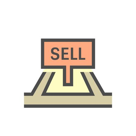 Land for sell vector icon design.