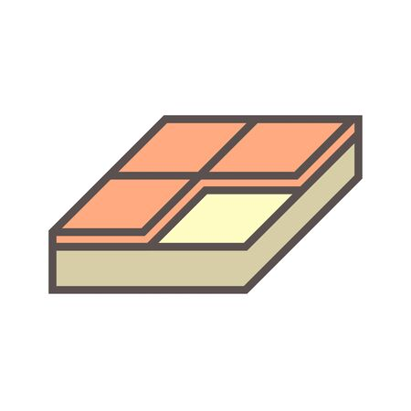 Wood floor construction and material vector icon design on white background.