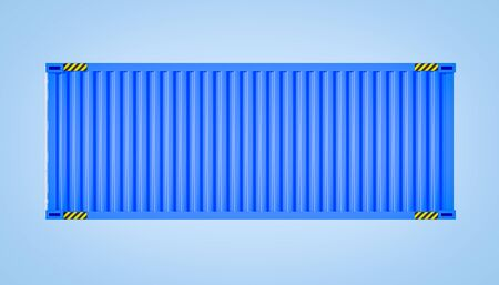 3d rendering of cargo container on color background. Stock fotó