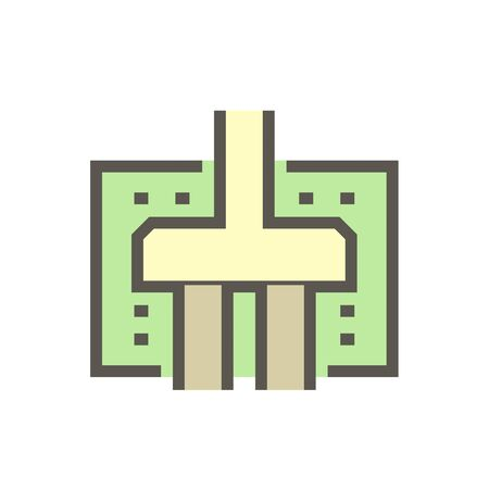 Geotechnical engineering and building vector icon design.