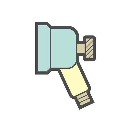 Air conditioner and air compressor cleaning parts and tools vector icon design. Stock Illustratie