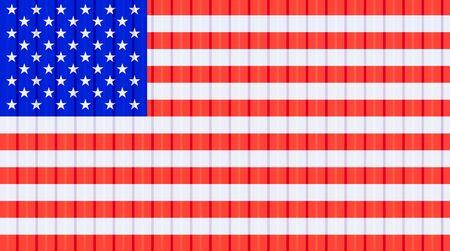3d rendering of us flag on cargo container texture background, US trade concept design. Reklamní fotografie