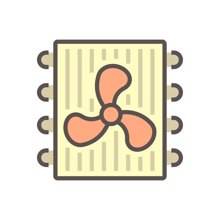 Air conditioner service and technician vector icon design, editable stroke. 向量圖像