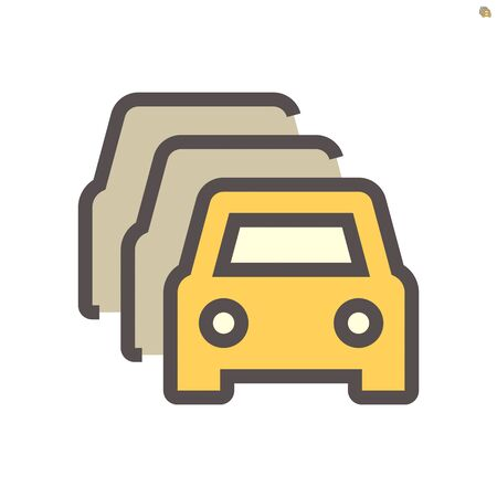 Row of car for sale vector icon design, 48X48 pixel perfect and editable stroke.