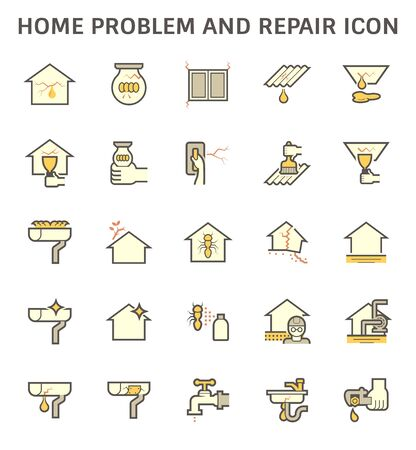 Home problem and repair service vector icon set design. Vektorgrafik