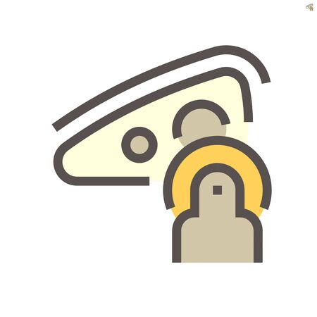 Car headlight cleaning work vector icon design, 48x48 pixel perfect and editable stroke.  イラスト・ベクター素材