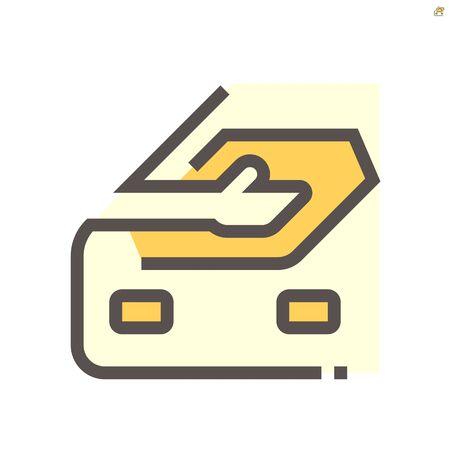 Car cloth rubbing work vector icon design, 48x48 pixel perfect and editable stroke.