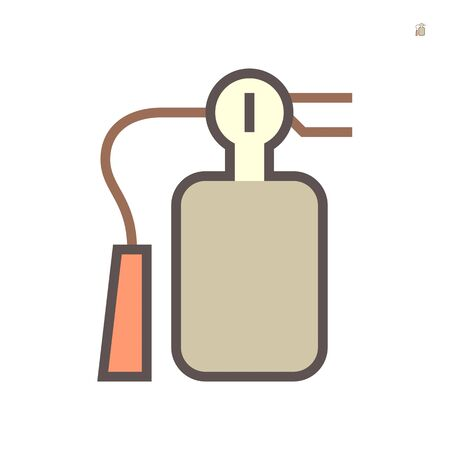 fire extinguisher for firefighting work vector icon design on white background. Çizim