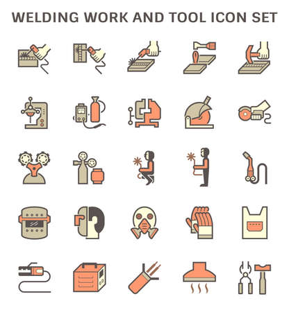 Air conditioner installation tool and pipe cover vector icon set design on white background. 일러스트