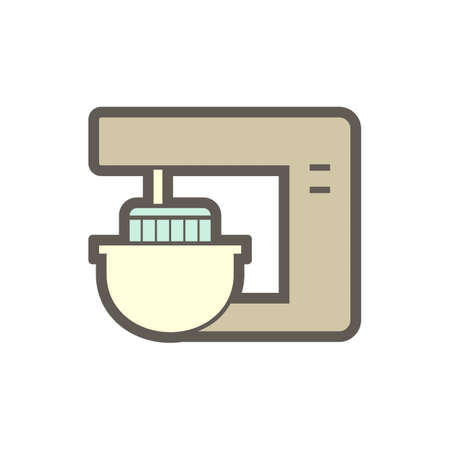 Dough kneading machine in food processing vector icon design on white background.