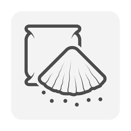 Concrete powder vector icon design. Illusztráció