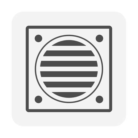 Floor and roof drainage equipment vector icon design.