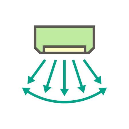 Air conditioner control vector icon design, editable stroke. Ilustração
