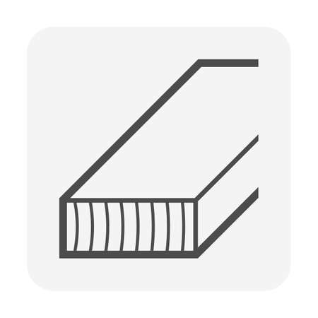 Wood material for construction work vector icon design.