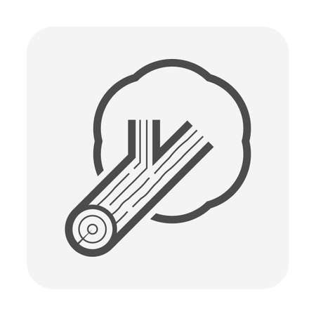 Wood production industry and sawmill vector icon design.