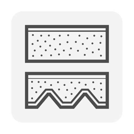 Concrete zinc deck slab vector icon design on white background.