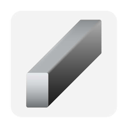 Square shape of structural steel product vector icon design. Stock Illustratie