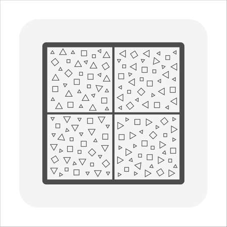 Terrazzo flooring and material vector icon design on white background.