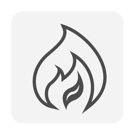 Fire flame vector icon design.