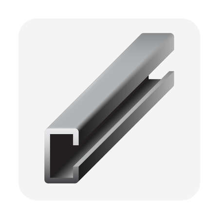 C shape of beam or structural steel beam product vector icon design. Ilustração