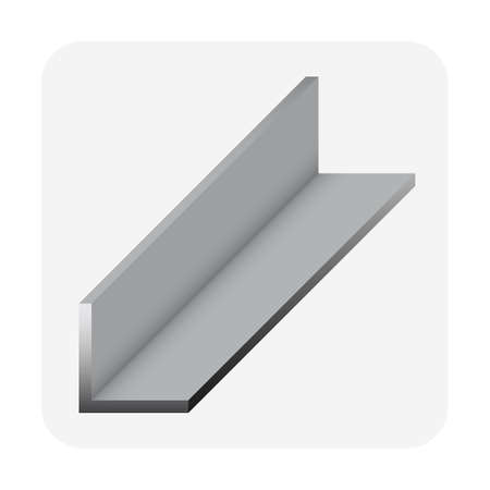 Angle shape of steel product vector icon design.