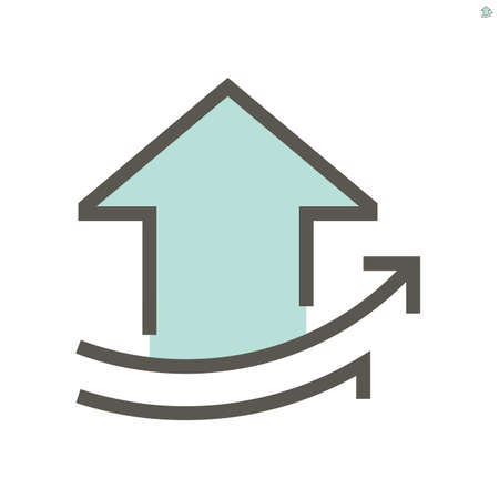 Real estate business growing up vector icon design, 48X48 pixel perfect and editable stroke.