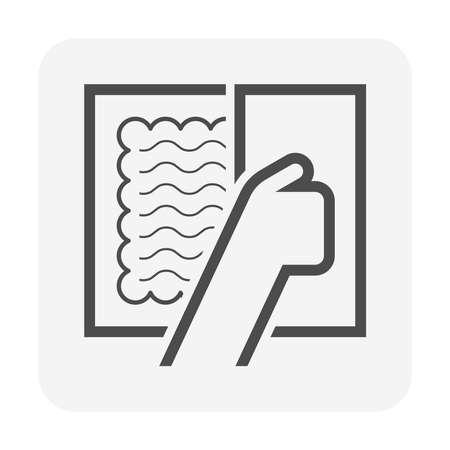 Tile floor installation and trowel vector icon design.