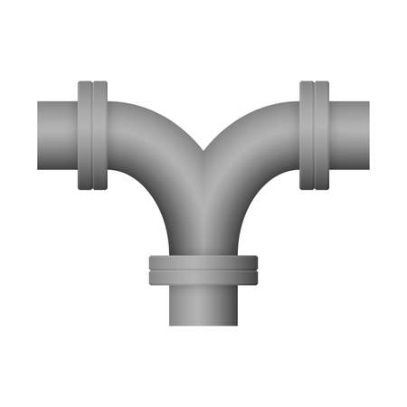 Steel pipe connector icon design isolated on white background. 向量圖像