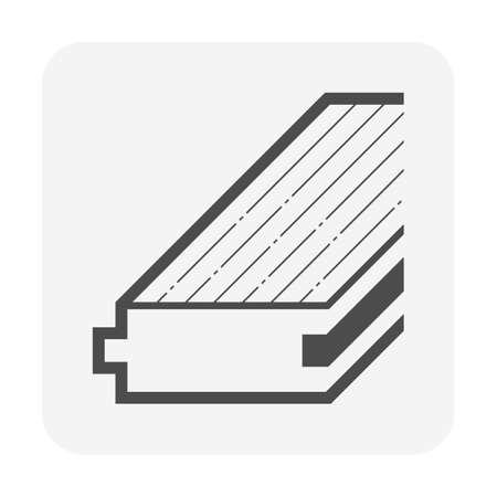 Wood floor material vector icon design.