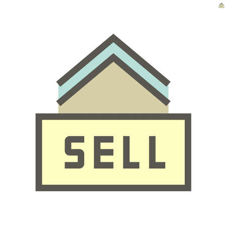 Home for sale vector icon design, 48X48 pixel perfect and editable stroke.
