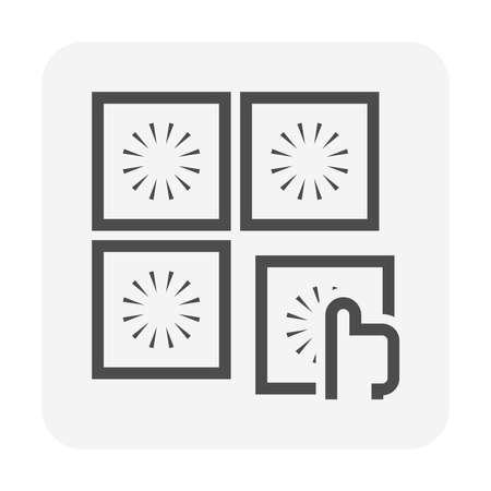 Tile floor installation and material vector icon design. Vecteurs