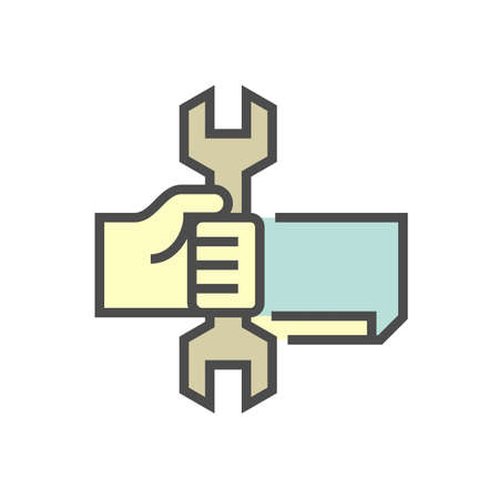 Air conditioner service and technician vector icon design, editable stroke. Ilustração