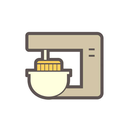 Reciprocating compressor or piston compressor vector icon. For compression liquid or gas at high pressure. Use in air conditioning HVAC system, oil refinery, gas pipeline, processing plant. 64x64 px. Ilustração