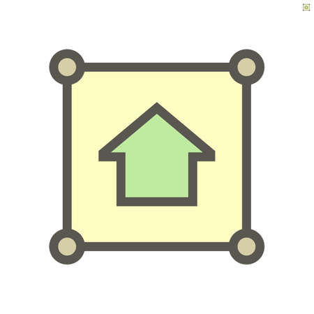 Land, home for sale vector icon. Include area, position pin point, location. Tract of land, real estate or property for owned, sale, development, rent, buy, purchase and investment to growth. 64x64 px