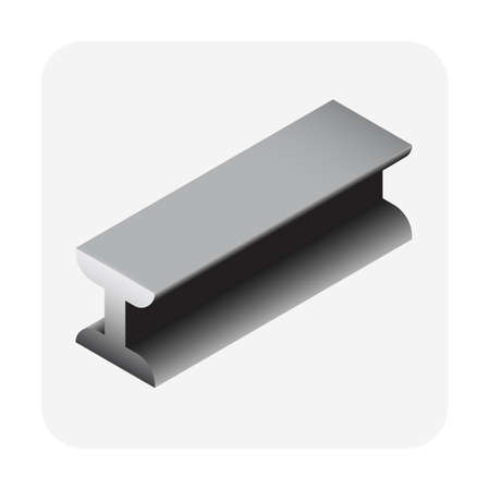 Steel product icon. I channel profile shape. alloy of iron from steel production industry and metallurgy used as beam, bar, frame, girder, structure in engineering, construction building material Vektorgrafik