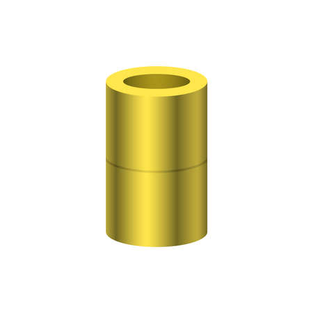 PVC plastic pipe fittings or pipe coupling vector icon. Straight type. Part for connection or installation pipe, tube in pipeline system for plumbing, irrigation, drainage, sewage and water supply.