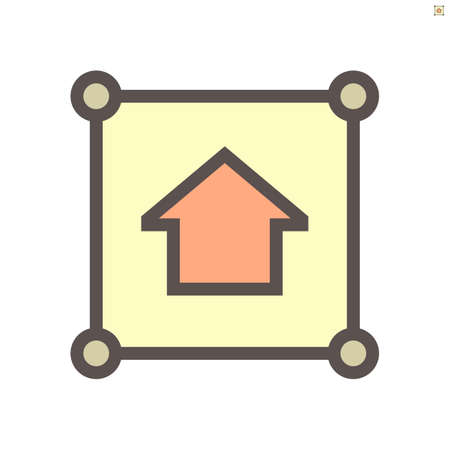 Land, home for sale vector icon. Include area, position pin point, location. Tract of land, real estate or property for owned, sale, development, rent, buy, purchase and investment to growth. 48x48 px