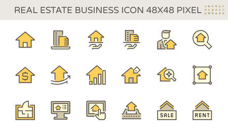 Home or house building vector icon. That real estate, property or realty. Include agent, realtor or broker. Professional in business to development, sale, rent, buy, purchase, mortgage or investment.