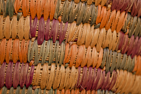 wickerwork: Colorful wicker basket background. Closed up wooden wicker texture background. Wicker handmade basket texture. Abstract texture and background for designers.