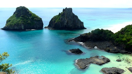 Beach in Fernando Noronha. Bahia do Porcos, Brazil.
