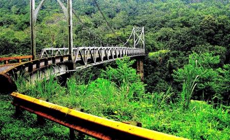 fortuna: Metal bridge on the way to Volcano Arenal and La Fortuna, Costa Rica.