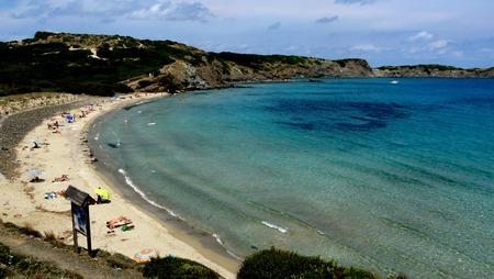 menorca: Relaxing sunny landscape in Tortuga Beach, Menorca, Balearic Islands, Spain.