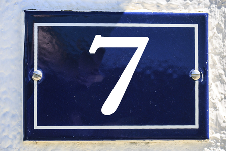 Number of house in blue color