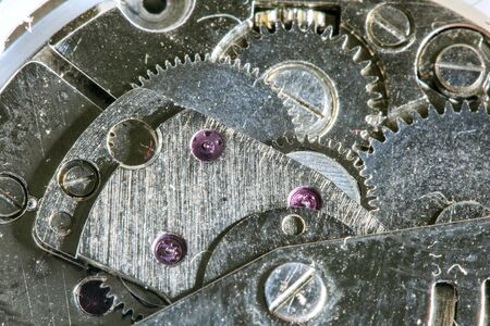 macro: watch  gears macro photography Stock Photo