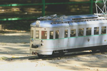 miniaturization: Miniature replica train of real train in Spain
